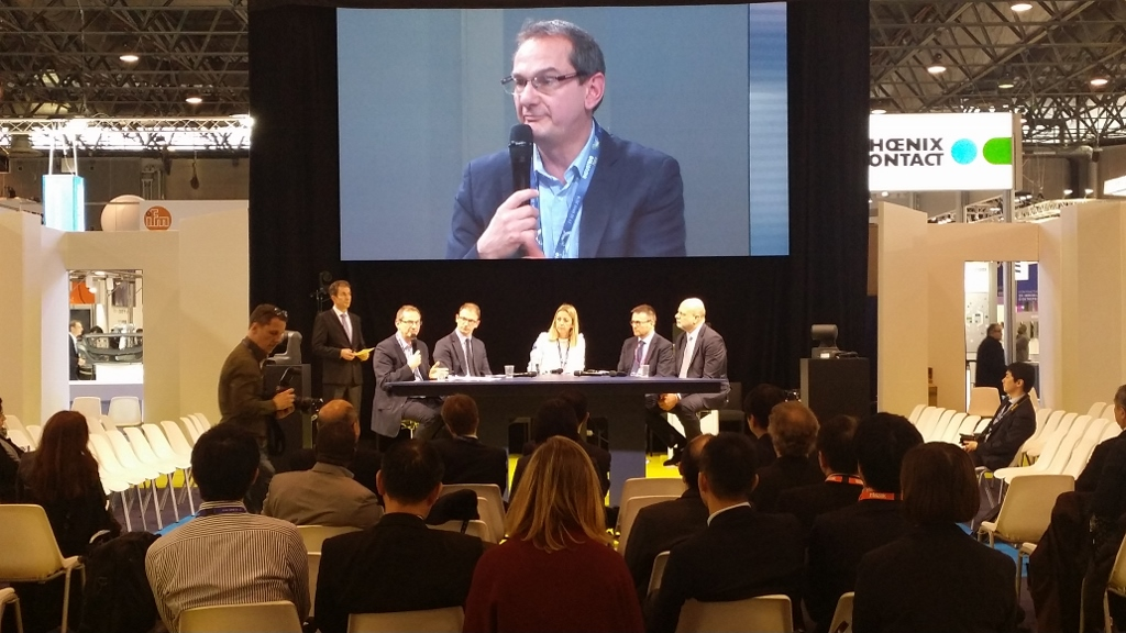 Jean-François Sencerin speaks during the panel discussion on 28 March 2018