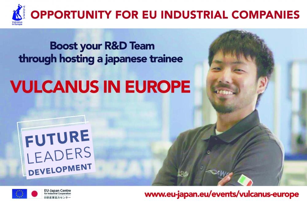 Vulcanus in Europe - host a Japanese intern in R&D | EU-Japan