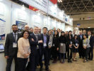 Mission participants at EU-Japan Centre's booth at Japan IT Week